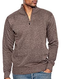 Men's Long Sleeve Soft Stretch Half-Zip Casual Pullover Sweater