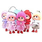 XEDUO The Best Toy Gift 5Pcs Kids Toys Soft Interactive Baby Dolls Toy Mini Doll for Girls and Boys Hot for Smartphone (Random)