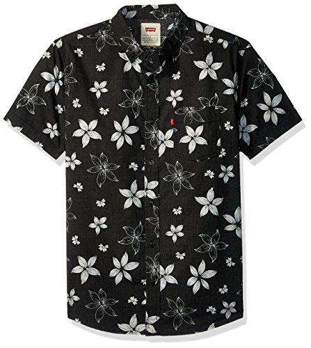 Levi's Men's Gatland Short Sleeve Woven Shirt, caviar, X Large