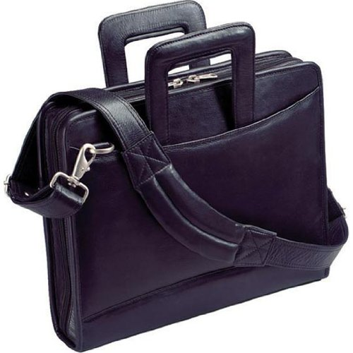 Harness Cowhide Napa Leather Portfolio with 3-Ring Binder and Removable Shoulder Strap (Harness Leather Winn)