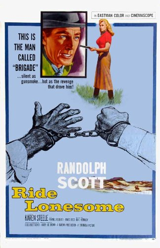 Ride Lonesome Poster Movie B 27x40
