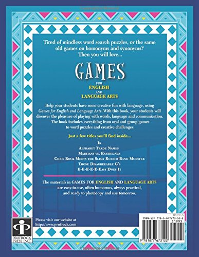Games for English and Language Arts by Brand: Prufrock Press