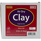 Amaco 4630-1A Air Dry Modeling Clay, 10-Pound, Terra Cotta