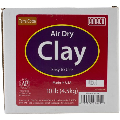 AMACO Air Dry Modeling Clay, 10-Pound, Terra Cotta - Terra Cotta Sculpture