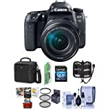 Canon EOS 77D DSLR EF-S 18-135mm F3.5-5.6 IS USM Lens - Bundle 16GB SDHC Card, Camera Case, Cleaning Kit, 67mm UV Filter, Memory Wallet, Card Reader, Mac Software Package