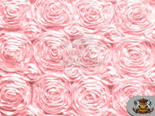 - Rosette Satin Fabric PINK / 54