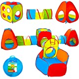 Playz Ball Pit, Play Tent and Tunnels for Kids, Gift for Toddler Boys & Girls, Best Birthday Gift for 1 2 3 4 5 Year old, Pop