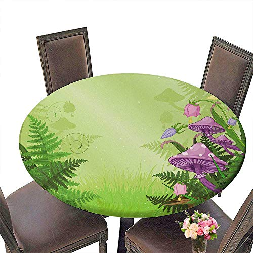 PINAFORE Picnic Circle Table Magic Landscape with mush s and Flowers for Family Dinners or Gatherings 55