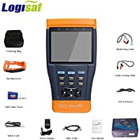 Logisaf 3.5 LCD Monitor CCTV Camera Tester Video PTZ RS485 UTP Test Detector for Security System Installation and Maintenance