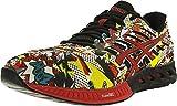 ASICS Mens Fuzex Running Shoe, Black/Vermilion/White, 11.5 M US