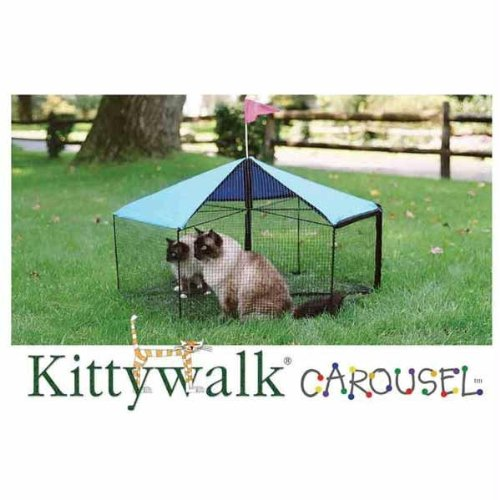 Carousel Outdoor Cat Enclosure Green by Kittywalk