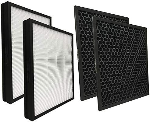 Comedes Reservefilterset geschikt voor Philips AC565910 luchtreiniger 5000 series2x HEPA en 2x actieve koolfilterste gebruiken in plaats van Philips FY518230 en FY518530 1