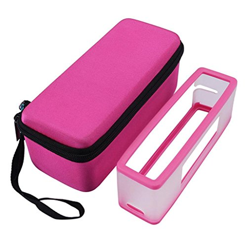gbsell-soft-cover-storage-case-bag-for-bose-soundlink-mini-i-ii-2-bluetooth-speaker-hot-pink