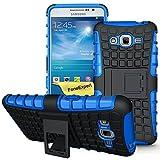 Galaxy Grand Prime Case, FoneExpert® Heavy Duty Rugged Impact Armor Hybrid Kickstand Protective Cover Case For Samsung Galaxy Grand Prime G530 G5308 + Screen Protector & Cloth (Blue)