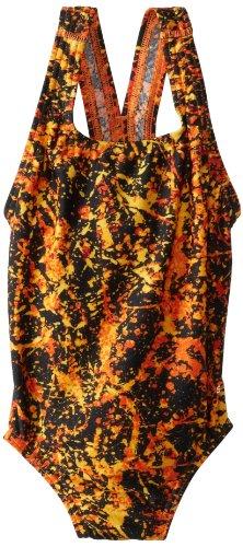 Big Girls' Youth Splatter Splash Superpro Swimsuit, Orange
