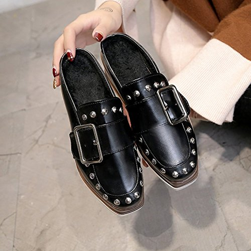 Baotou Primavera E Pantofole Fondo Sandali Pantofole Bianco Semi Spesso La L'Estate Qingchunhuangtang XUx5wSqTHw
