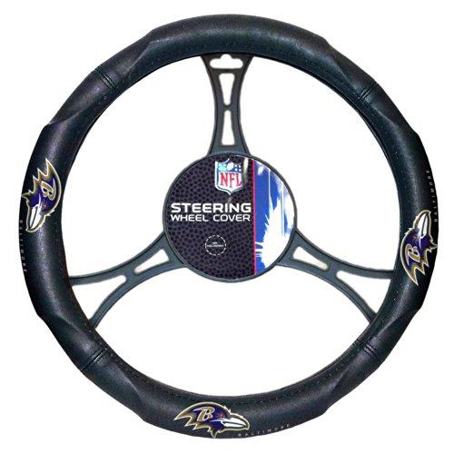 Officially Licensed NFL Steering Wheel (Ravens Steering Wheel Cover)