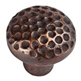 The Copper Factory CF100AN Solid Cast Copper Small Round Knob, Antique Copper by The Copper Factory