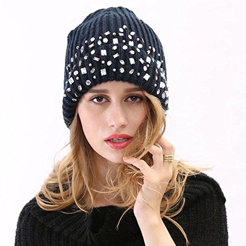 Occidental 3 Sombrero 2 Gorro de Lana Maozi de Punto de Invierno señoras Las Sombrero Fashion wIFn6qfB