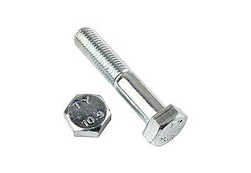 Stahl 10 Stk DIN 960 Sechskantschraube M22x1,5 Feingewinde mit Schaft