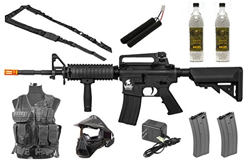 Best Airsoft Gun Starter Package (Black) by Airsoft GS