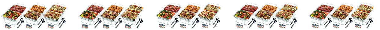 One Size Silver Sterno 70222 24-Piece Disposable Party Set 2- Pack