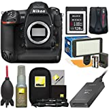 Nikon D5 Digital SLR Camera Body (Dual XQD Slots) 128GB Card + Reader + Video Light Set + GPS Adapter + Cleaning Kit
