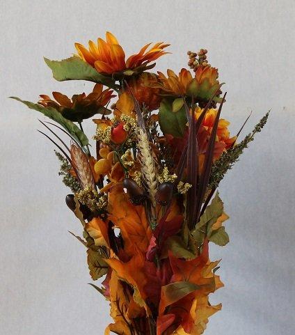amazon com fall flowers mixed artificial plant bush assortment