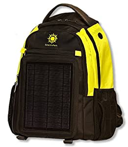 SolarGoPack 12k, solar powered backpack, charge mobile devices, Take Your Power with You, 12,000 mAh Lithium Ion Battery - Stay Charged My Friends !! - Yellow