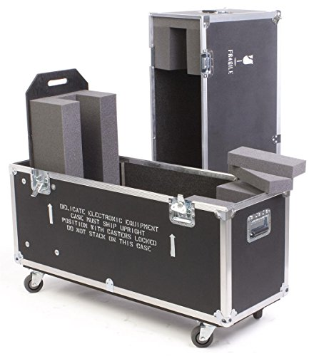 Flat Panel Case - Flat Panel TV Travel Case, with Wheels and Handles, and EVA Foam Interior for 1 TV - Black Laminate Plywood