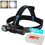 OLIGHT H2R Nova 2000 Lumens LED Rechargeable Headlamp - Available in Neutral White or Cool White LED & LumenTac Battery Organizer (Neutral White)