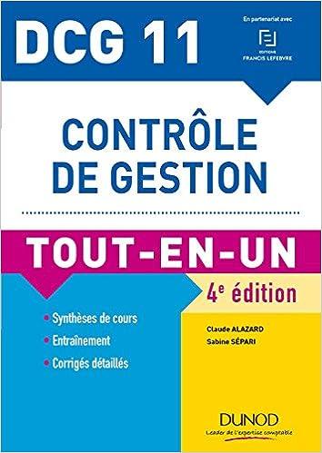 Amazon Fr Dcg 11 Controle De Gestion 4e Ed Tout En