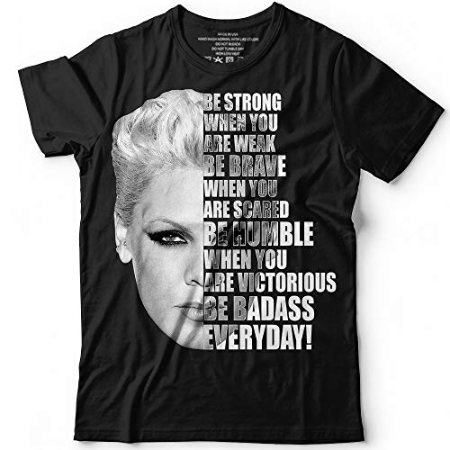 75665e18 Amazon.com: Be Badass Everyday Singer Pink Music Song Quote Fan Gift  Customized Handmade T-Shirt Hoodie/Long Sleeve/Tank Top/Sweatshirt: Handmade