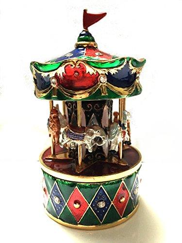 (Musical Carousel Horse Elephant Camel Ram Lion Rabbit Bejeweled )