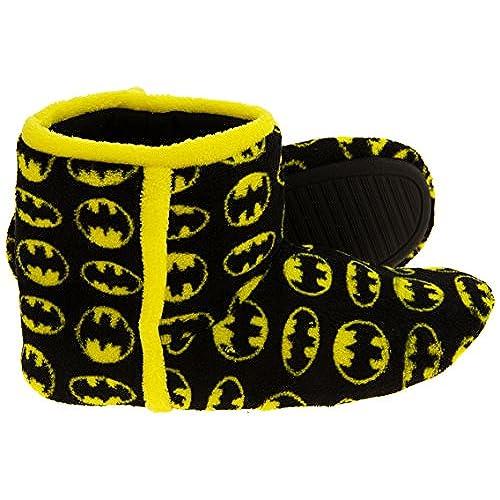 Hombre Magnífico Batman Negro Textil Fleece Caliente Zapatillas Bota EU 43 DO4GyvZ