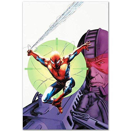 SPIDER-MAN Original Giclee on Canvas by Marvel Artworks Comics Stan Lee COA