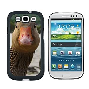 Funny Duck Head Close upCase for Samsung Galaxy S3 Black iphone casecase for iphone for men