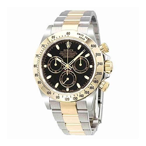 (Rolex Cosmograph Daytona Automatic Black Index Dial Oyster Bracelet Mens Watch 116523BKSO)