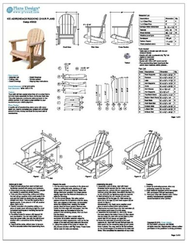 adirondack rocking chair plans.  Chair Child Adirondack Rocking Chair Woodworking Plans Trace U0026 Cut ODF22   Outdoor Furniture Project Plans Amazoncom On O
