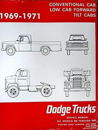 1969 70 dodge power wagon truck models 100 800 service shop manual rh amazon com dodge ram shop manual 2005 dodge ram shop manual