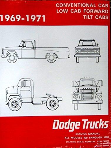 1969-1971 Dodge Truck Factory Shop - Service Manual