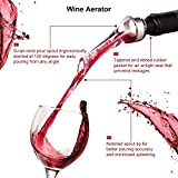 Crenova 4-in-1 Electronic Wine Opener, Rechargeable Automatic Corkscrew Wine Bottle Opener set with Wine Saver Pump, Wine Aerator and Wine Foil Cutter & USB Charging Cable, Elegant Black