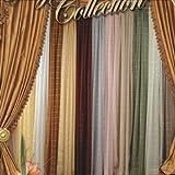 Cheap Violet Linen Royal Plaid Sheer Scarf, 40″ x 216″, Gold