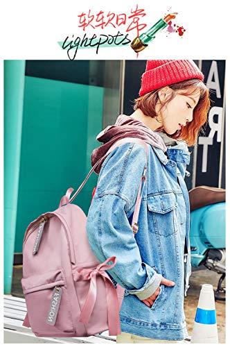 de de Bolso estudiante arco la Oxford de mochila bolso moda de de el 2018 Nuevo paño Rosado la estudiante de del Bolso hombro de con Bolso 8w0HqA8