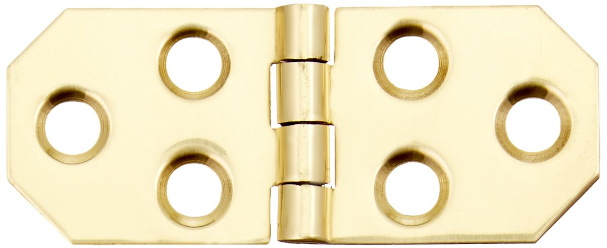 2-Pack NATIONAL//SPECTRUM BRANDS HHI N211-862 3//4-Inch Brass Decor Hinge