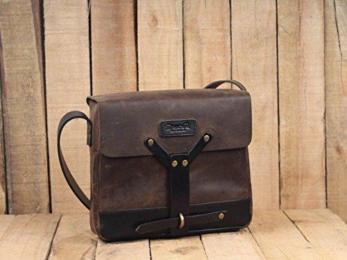 18ac263a15727 Leather Vintage Messenger Bag Leather Satchel - Tobacco Brown