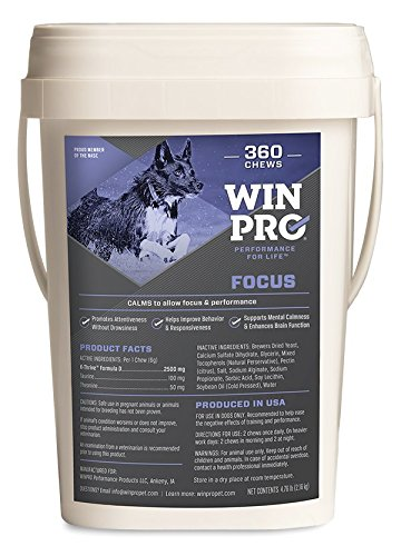 WINPRO Focus - Advanced Canine Health Supplements - Improve Your Dog's Mental Health - 360 Soft Chews by WINPRO