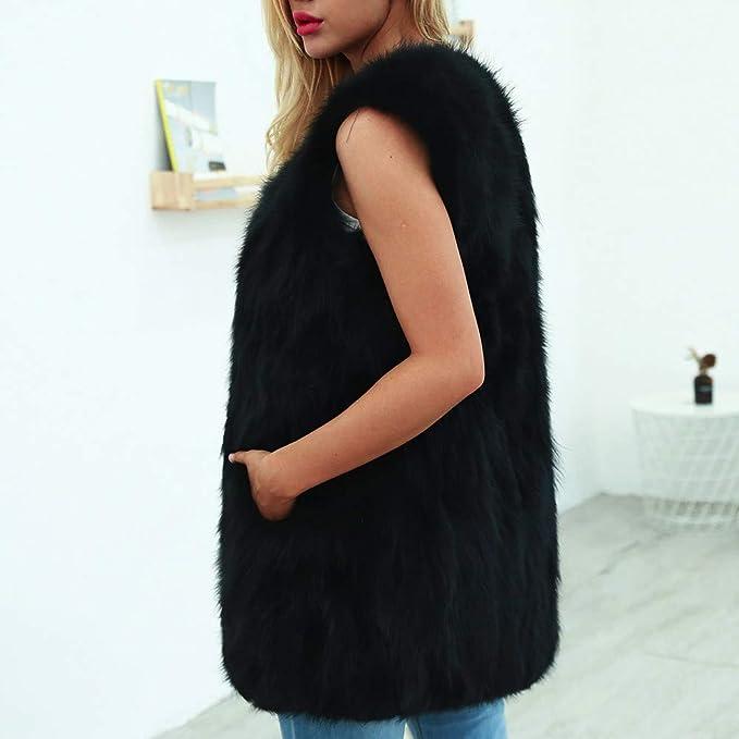 Overdose LiquidacióN Womens Ladies Warm Artificial Wool Mejor Venta 2018 Abrigo Solid Streetless Parka Winter Prendas De Abrigo: Amazon.es: Ropa y ...