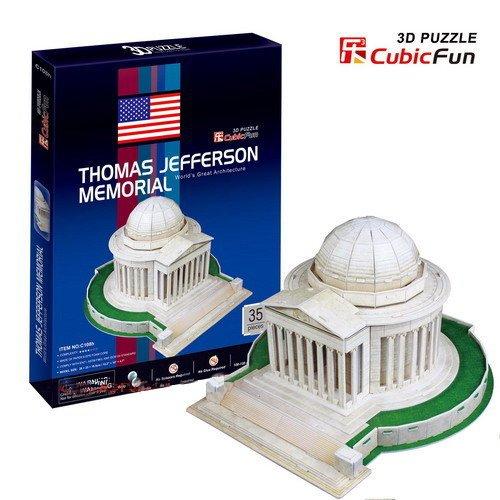 Jefferson Kit Thomas (Cubic Fun C108H Thomas Jefferson Memorial 3D design)