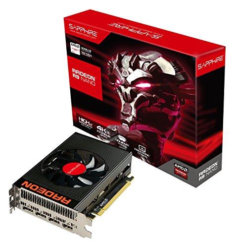 Sapphire Radeon R9 Nano 4G HBM AMD Radeon R9 Nano 4GB - Tarjeta gráfica (Activo, Windows 10 Education, Windows 10 Education x64, Windows 10 Enterprise, Windows 10 Enterprise x64, Wi, AMD, Radeon R9 Nano, High Bandwidth Memory (HBM), PCI Express 3.0)